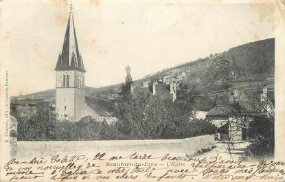 "/ CPA FRANCE 39 ""Beaufort du Jura, l'église"""