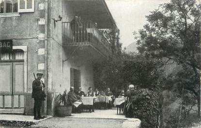 "/ CPA FRANCE 39 ""Saint Claude, restaurant E. Grosléziat"""