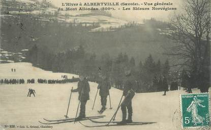"/ CPA FRANCE 73 ""Albertville, vue générale"" / SKI"