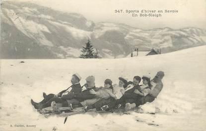 """/ CPA FRANCE 73 """"Sports d'hiver en Savoie"""" / BOB SLEIGH"""