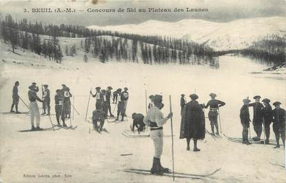 """/ CPA FRANCE 06 """"Beuil, concours de ski au plateau des Launes"""""""