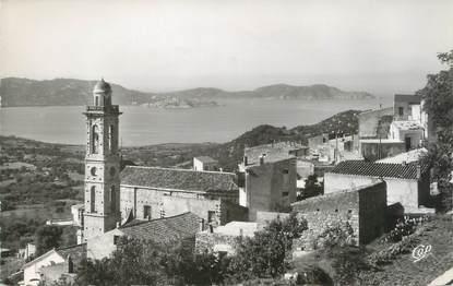 """/ CPSM FRANCE 20 """"Corse, Lumio, le village et le Golfe de Calvi"""""""