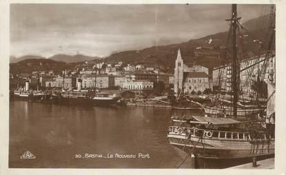 "/ CPA FRANCE 20 ""Corse, Bastia, le nouveau port"""