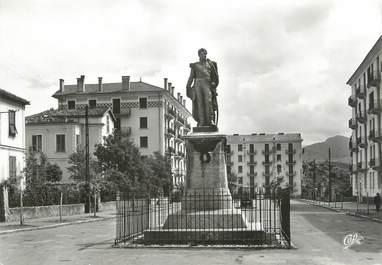 """/ CPSM FRANCE 20 """"Corse, Corte, statue du Duc de Padoue"""""""