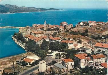 """/ CPSM FRANCE 20 """"Corse, Saint Florent, vue pittoresque aérienne du port"""""""