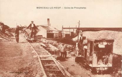 """/ CPA FRANCE 02 """"Monceau Le Neuf, usine de phosphates"""""""