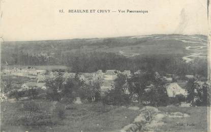 "/ CPA FRANCE 02 ""Beaulne et Chivy, vue panoramique"""