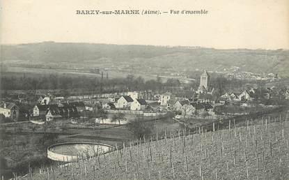 """/ CPA FRANCE 02 """"Barzy sur Marne, vue d'ensemble"""""""
