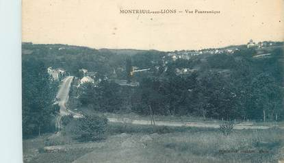 """/ CPA FRANCE 02 """"Montreuil aux lions, vue panoramique"""""""