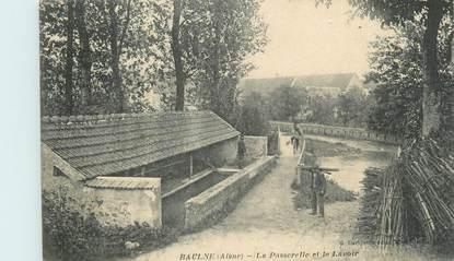 """/ CPA FRANCE 02 """"Baulne, la passerelle et le lavoir"""""""