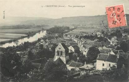 "/ CPA FRANCE 02 ""Crouttes, vue panoramique"""