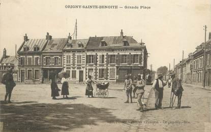 "/ CPA FRANCE 02 ""Origny Sainte Benoite, grande place"""