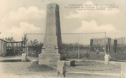 """/ CPA FRANCE 02 """"Pisseleux, monument aux morts"""""""