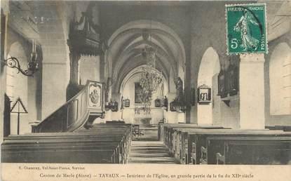 """/ CPA FRANCE 02 """"Tavaux, intérieur de l'église"""""""