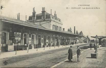 """/ CPA FRANCE 15 """"Aurillac, les quais de la gare"""""""