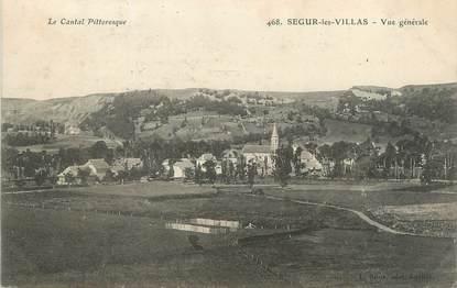 """/ CPA FRANCE 15 """"Ségur les Villas, vue générale"""""""