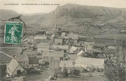 """/ CPA FRANCE 15 """"Neussargues et le rocher de Laval"""""""