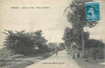 """/ CPA FRANCE 17 """"Gemozac, route des Saintes"""""""