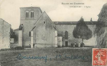 "/ CPA FRANCE 17 ""Courcoury, l'église"""