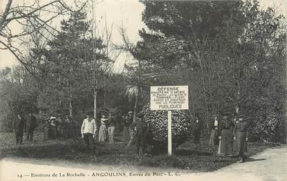 """/ CPA FRANCE 17 """"Angoulins, entrée du parc"""""""