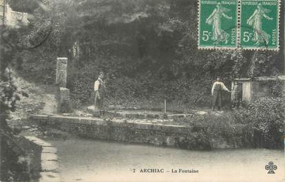 "/ CPA FRANCE 17 ""Archiac, la fontaine"""