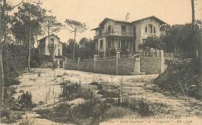 """/ CPA FRANCE 17 """"Bureau Saint Palais, villa Soleil couchant et criquette"""""""