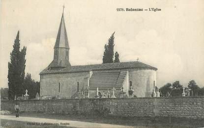 """/ CPA FRANCE 17 """"Balanzac, l'église """""""
