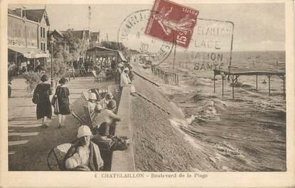 """/ CPA FRANCE 17 """"Chatelaillon, boulevard de la plage"""""""