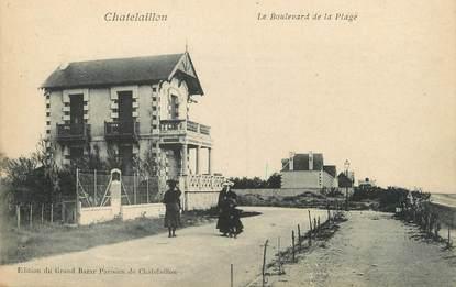 """/ CPA FRANCE 17 """"Chatelaillon, le boulevard de la plage"""""""