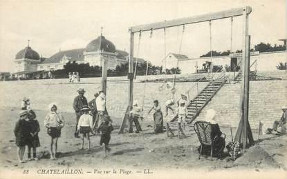 """/ CPA FRANCE 17 """"Chatelaillon, vue sur la plage"""""""