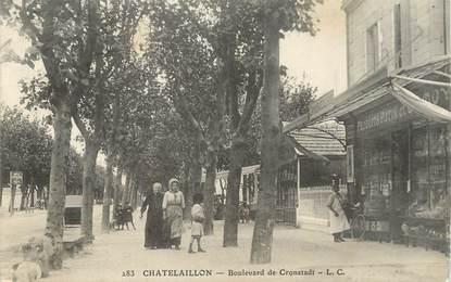 """/ CPA FRANCE 17 """"Chatelaillon, boulevard de Cronstadt"""""""