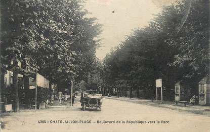 """/ CPA FRANCE 17 """"Chatelaillon plage, boulevard de la République vers le parc"""""""