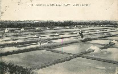 "/ CPA FRANCE 17 ""Environs de Chatelaillon, marais salants"""