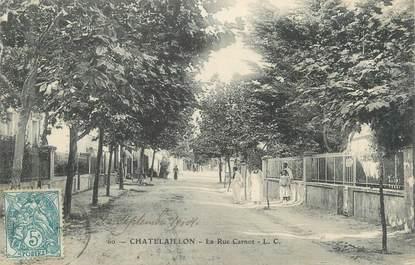 "/ CPA FRANCE 17 ""Châtelaillon, la rue Carnot"""