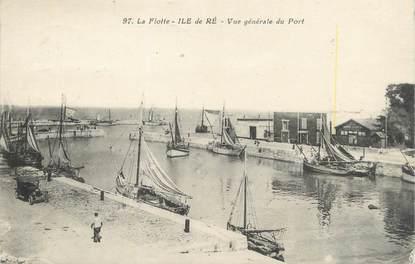 """/ CPA FRANCE 17 """"Ile de Ré, vue générale du port"""""""