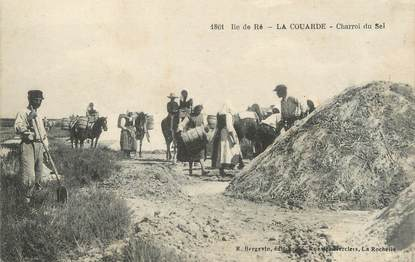 """/ CPA FRANCE 17 """"Ile de Ré, la Couarde, charroi du sel"""""""