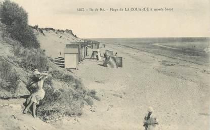 """/ CPA FRANCE 17 """"Ile de Ré, plage de la Couarde"""""""