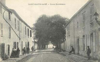 """/ CPA FRANCE 17 """"Saint Martin de Ré, cours Déchézeaux"""""""