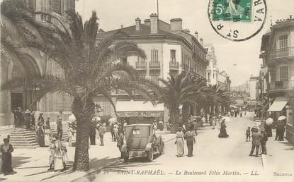 """/ CPA FRANCE 83 """"Saint Raphaël, le boulevard Félix Martin"""""""