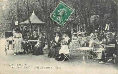"""/ CPA FRANCE 17 """"Fouras, parc du Casino, café"""""""