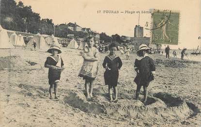 "/ CPA FRANCE 17 ""Fouras, plage"" / ENFANTS"