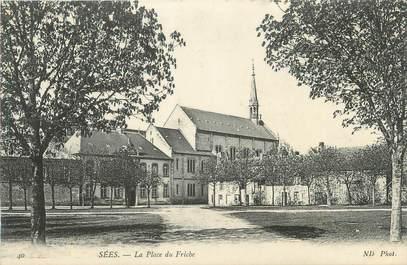 """/ CPA FRANCE 61 """"Sées, la place du Friche"""""""