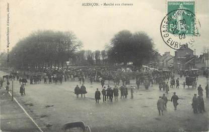 """/ CPA FRANCE 61 """"Alençon, marché aux chevaux"""""""