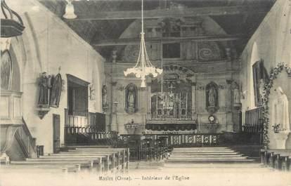 """/ CPA FRANCE 61 """"Masles, intérieur de l'église"""""""