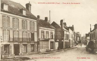 """/ CPA FRANCE 61 """"Moulins la Marche, place de la gendarmerie"""""""