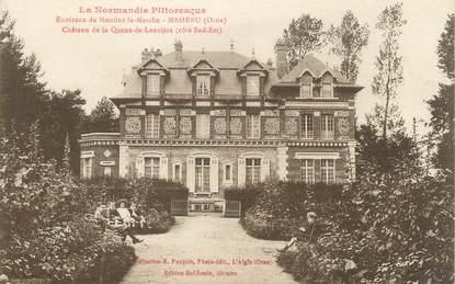 """/ CPA FRANCE 61 """"Mahérue, château de la Queue de Leuvière"""""""