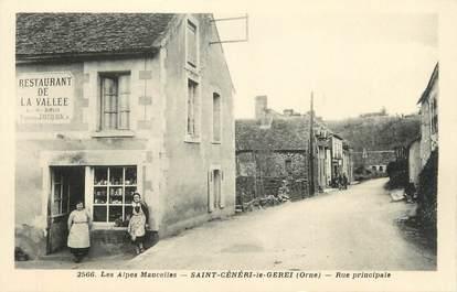 "/ CPA FRANCE 61 ""Saint Cénéri le Gerei, rue principale"""
