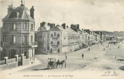 "/ CPA FRANCE 80 ""Mers Les Bains, la promenade de la plage """