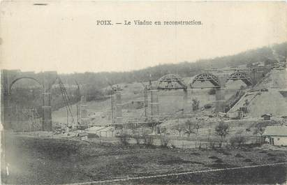 "/ CPA FRANCE 80 ""Poix, le viaduc en reconstruction"""