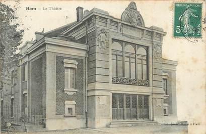 """/ CPA FRANCE 80 """"Ham, le théâtre"""""""
